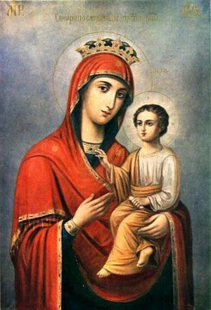 Молитвы пресвятой Богородице обычно читаются по лествице
